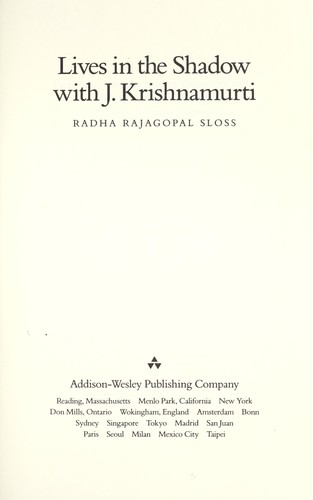Image for Lives in the Shadow With J. Krishnamurti