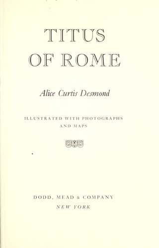 Image for Titus of Rome