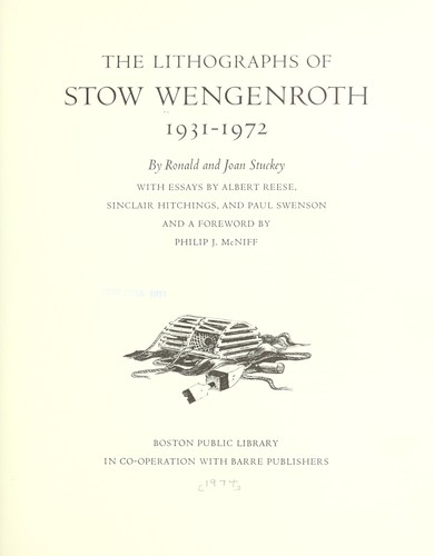 Image for The Lithographs of Stow Wengenroth, 1931-1972