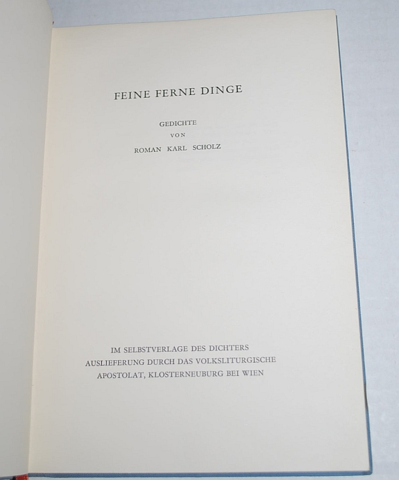 Image for Feine Ferne Dinge: Gedichte (German) (Fine Distant Things: Poems)