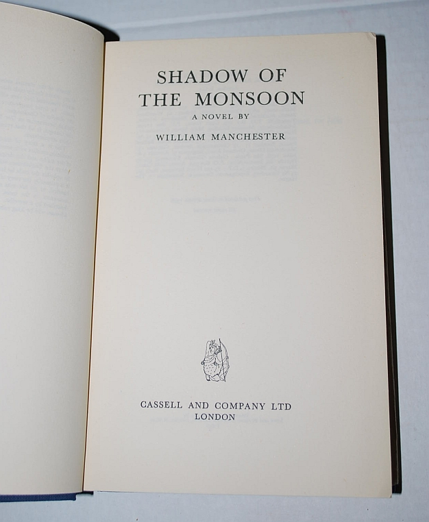 Image for Shadows of the Monsoon by Manchester William