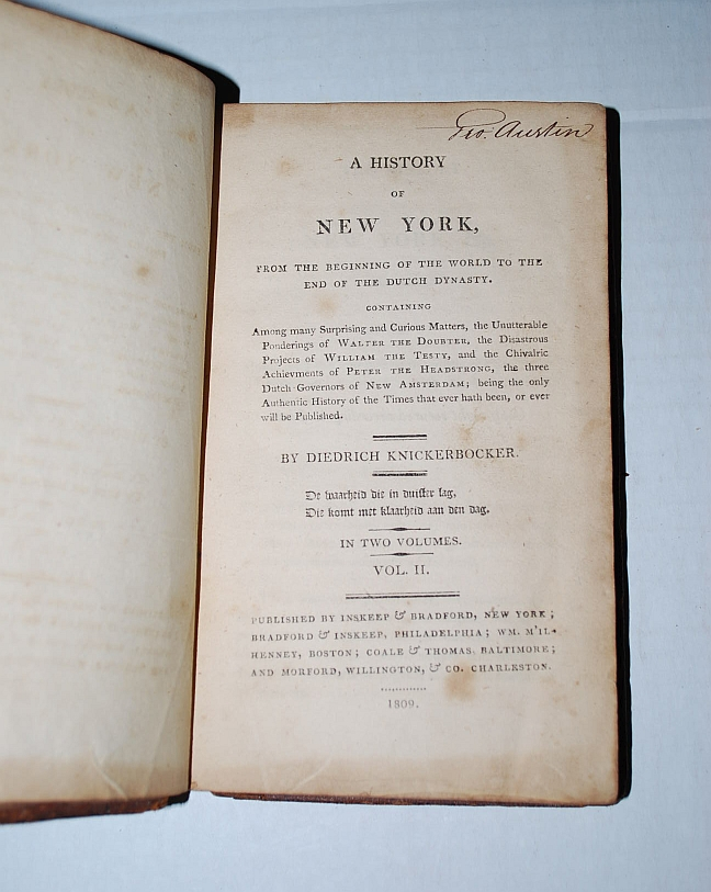 Image for A History of New York: Volume 2 Only