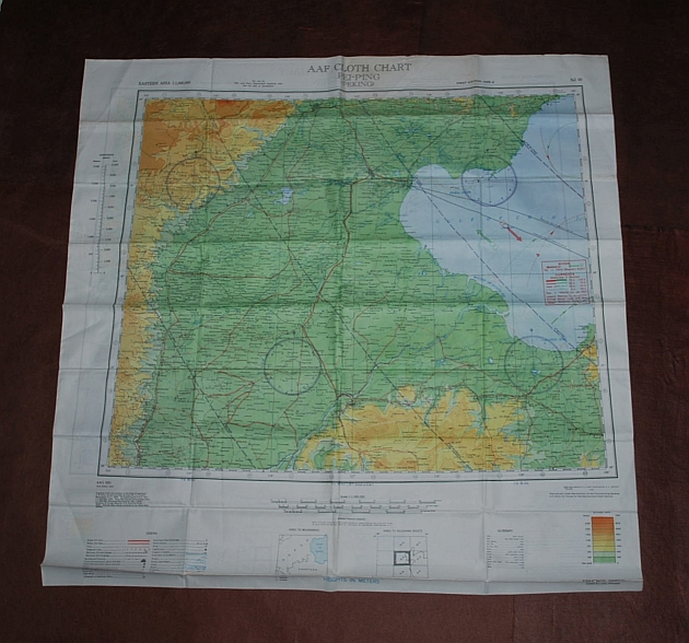 Image for Pei-P'ing (Peking) NJ 50 & Ryojun NJ 51. AAF Cloth Chart. Eastern Asia Series. AMS 5301. Evasion Map Scarf