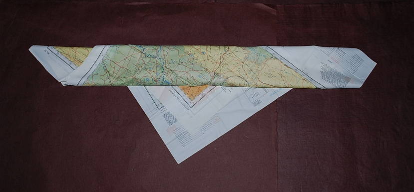 Image for Buir Nor NL 50 & Tsitsihar NL 51. AAF Cloth Chart. AMS 5301. Eastern Asia Series. Evasion Map Scarf