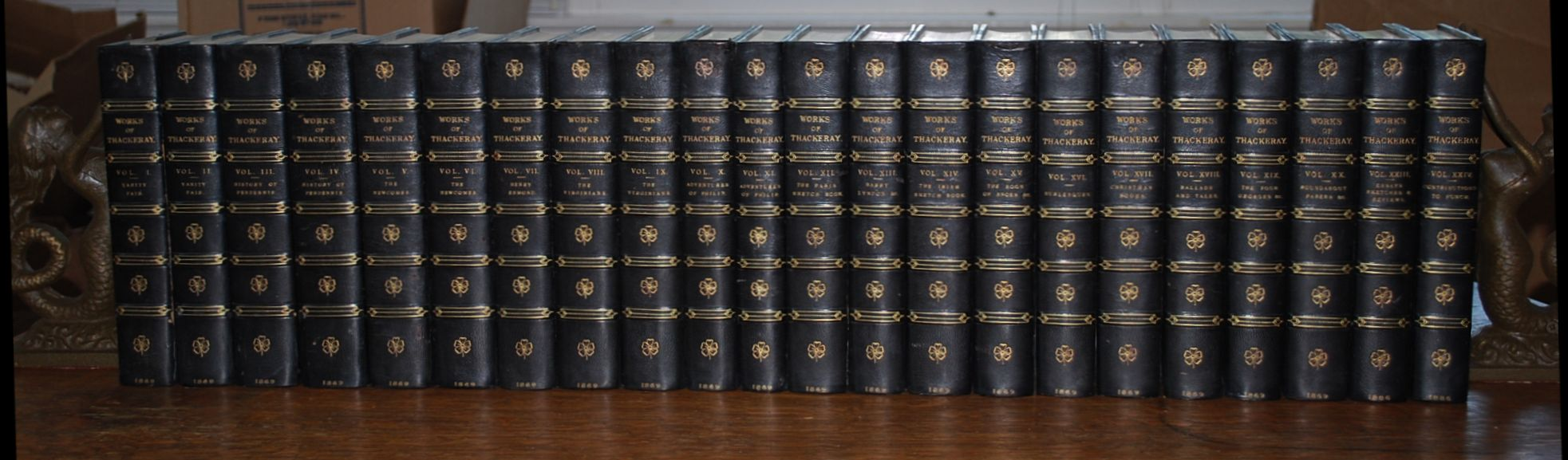 The Works of William Makepeace Thackeray 22 Volumes 1869