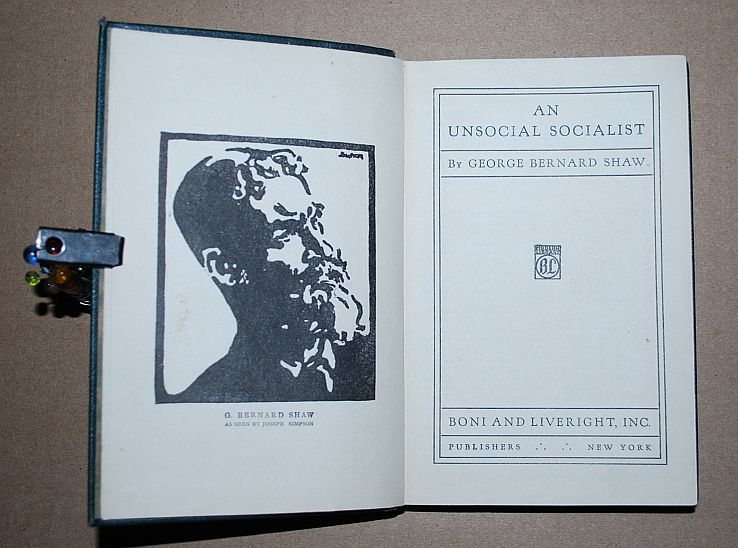 Image for An Unsocial Socialist (First Modern Library Printing), With Willy Pogany Art Nouveau Jacket