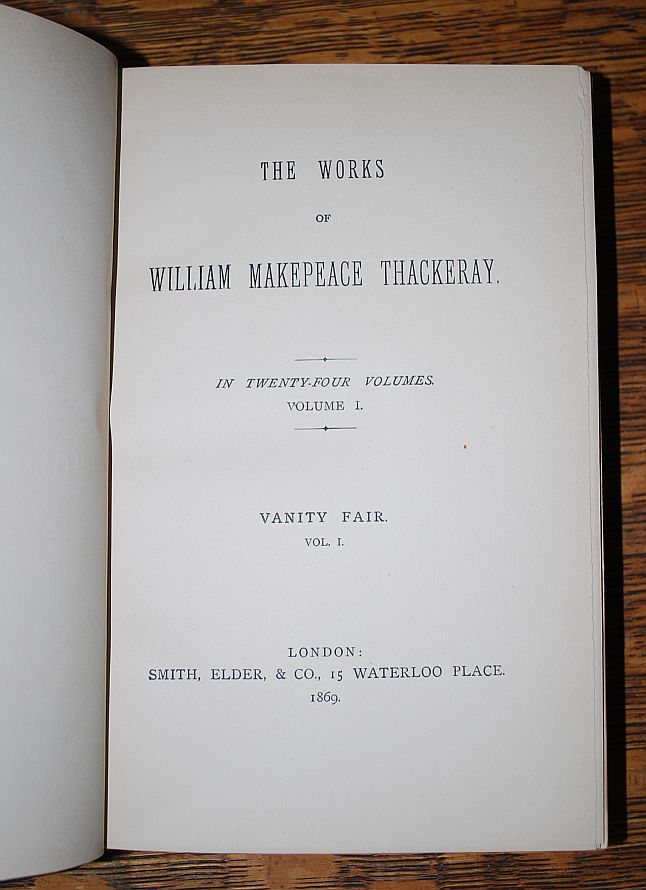 Image for The Works of William Makepeace Thackeray 22 Volumes 1869