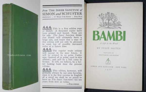 Image for Bambi: A Life in the Woods 1st English Language Limited Edition