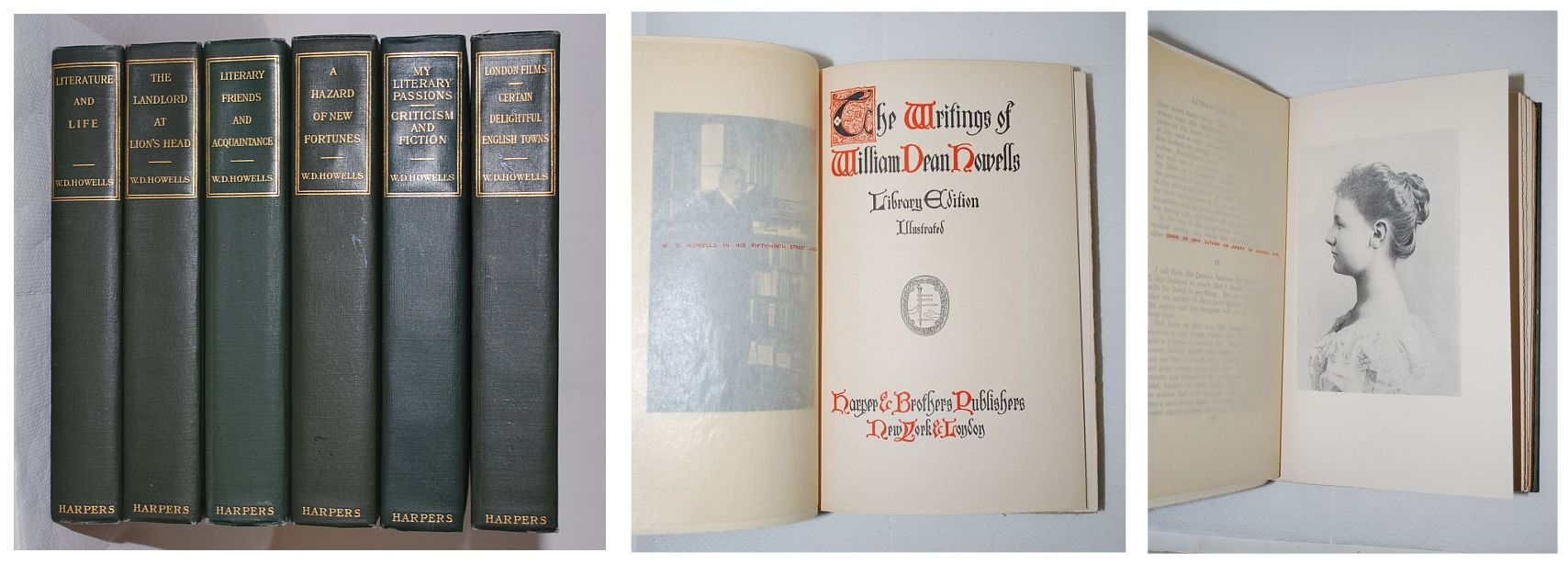 Image for The Writings of William Dean Howells, Library Edition Illustrated, 6 Volume Set