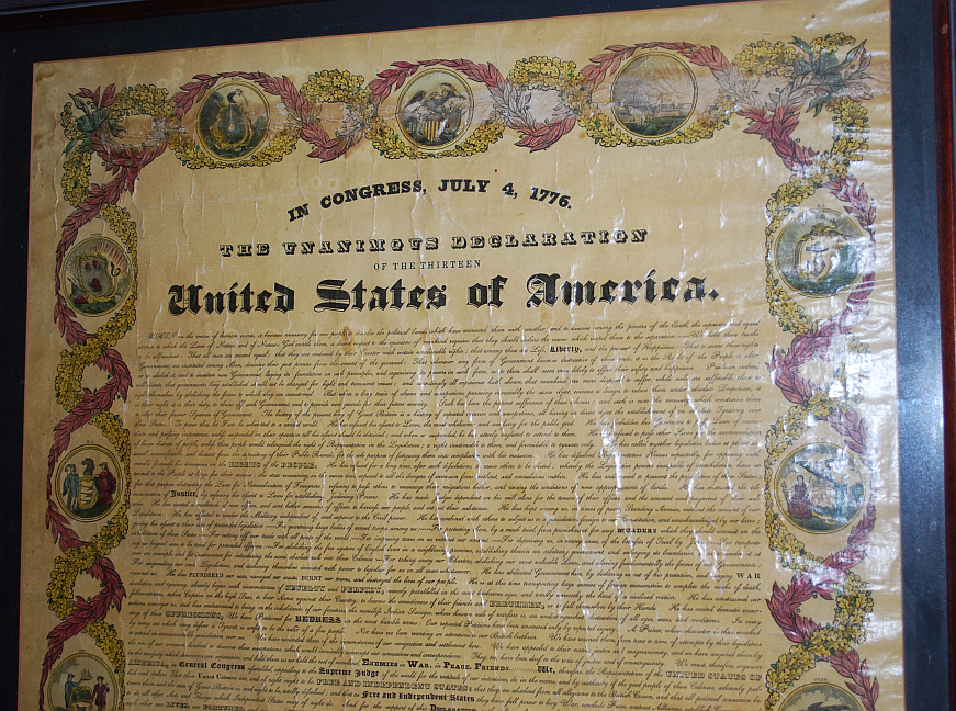 Image for Declaration of Independence Stereotyped Broadside Published By Prentiss Whitney and The Boston Bewick Company 1835