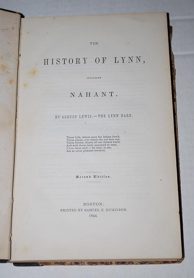 Image for The History of Lynn, Including Nahant Second Edition