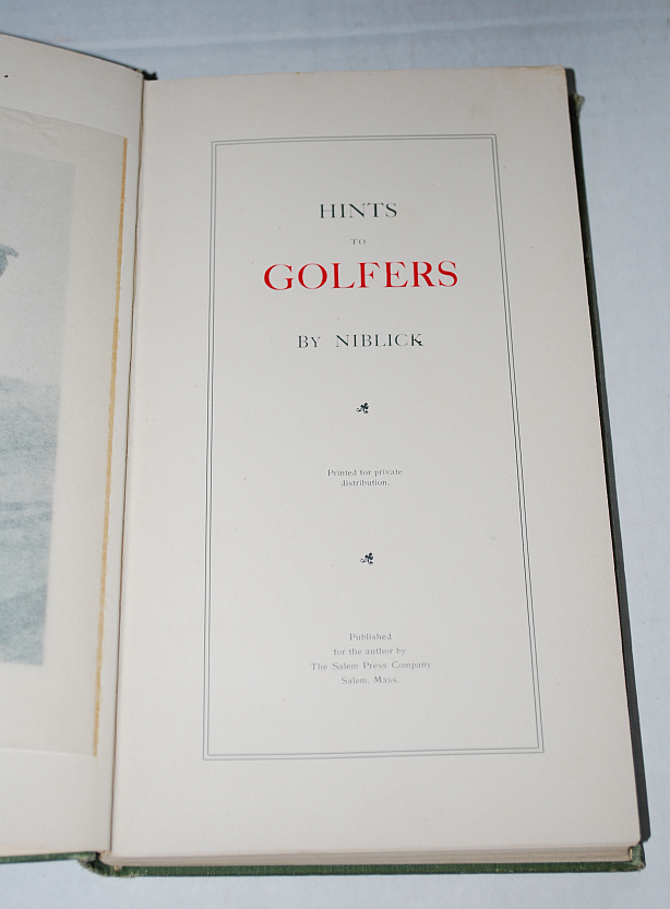 Image for Hints To Golfers