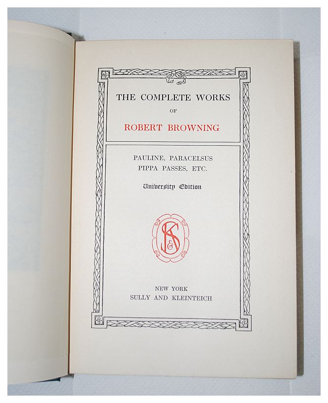Image for The Complete Works Of Robert Browning University Edition Six Volume Set